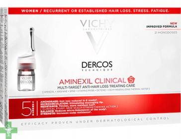 Dercos Aminexil Clinical 5 Mujer  21 Ampollas Anti-caída