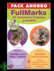 Fullmarks Pack Ahorro Loción 100ml + Champú 150ml + lendrera
