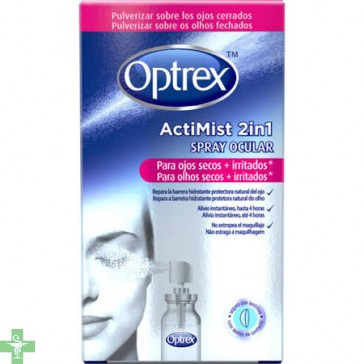 Optrex Actimist  Spray 2 En 1 Ojos Secos + Irritados 10 ml