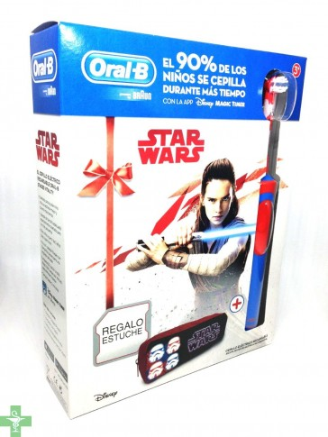 Oral B Cepilo Eléctrico Recargable Vitality Stages Star Wars+ Regalo Estuche Escolar