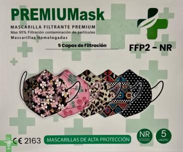 FFP2 SURTIDO ESTAMPADOS PREMIUM MASK (5 uds)
