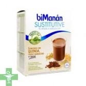 Bimanan Sustitutive 5 Batidos con Quinoa, Trigo Sarraceno y Cacao.