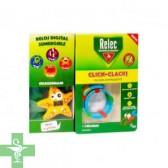 Relec Click Clack Pulsera Antimosquitos + 2 Recargas + Reloj ESTRELLA Digital Sumergible
