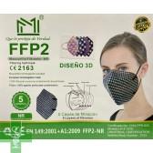 FFP2 SURTIDO CUADROS VICHY (5 uds)