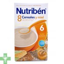 Nutriben 8 Cereales, Galletas María y Miel.