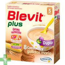 BLEVIT PLUS 8 CEREALES Y GALLETAS - (DUPLO 600 G )