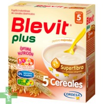 BLEVIT PLUS SUPERFIBRA PAPILLA 5 CEREALES - (600 G )