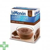 Bimana Natillas Sabor Chocolate 5 Sobres + 1 Sobre Gratis