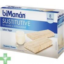 Bimanán Barritas Sabor Yogur 8 Barritas +  Regalo Bimanan Crema Sabor Yogur con Cereales 6 sobres