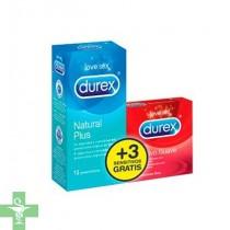 durex preservativos natural plus easyon 12uds + Regalo preservativo sensitivo suave 3 Unidades
