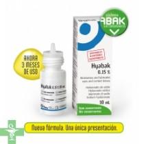 HYABAK 0.15 por ciento SOLUCION HIDRATANTE LENTES DE CONTACTO (10 ML )