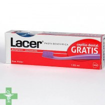 Lacer pasta dentífrica 125ml + Regalo  Cepillo Dental