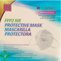 CAJA 25 MASCARILLAS FFP2 MediaSANEX BLANCAS