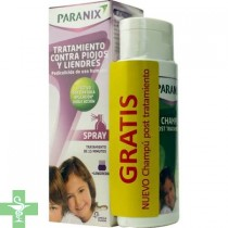 Paranix Spray Tratamiento Contra Piojos Y Liendres 100ml  + Lendrera + Regalo Champú Post Tratamiento 100ml