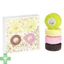 Roger & Gallet Caja 4 Jabones Perfumados 100 gramos: Cédrat, Fleur d´Osmanthus, Bois d´Orange y Rose.