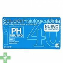 Cinfa solución fisiológica 5ml 40 Unidades