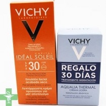 Vichy Ideal Soleil Emulsión Facial ACABADO SECO SPF30 50Ml + REGALO Aqualia Thermal 30 ml
